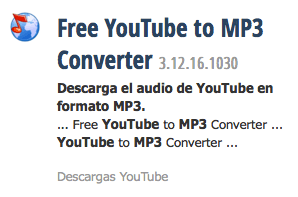 De youtube a vídeo o MP3
