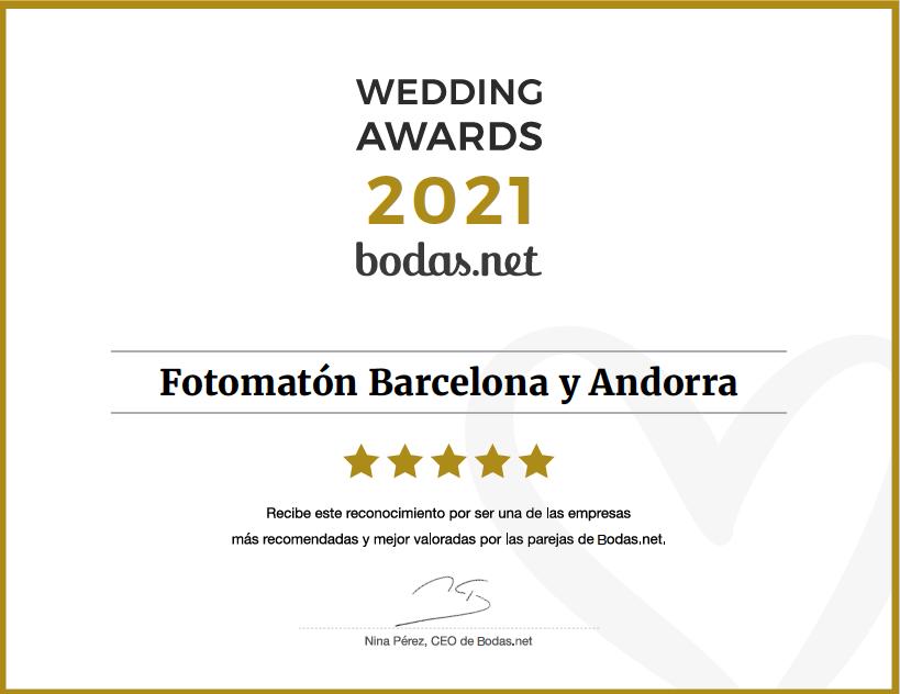 Premio Awards Fotomaton Barcelona Andorra